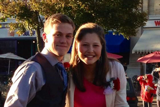 Homecoming King Trevor Steyn and Queen Charlotte Purnode at last years Homecoming parade.