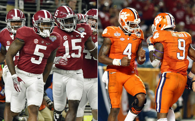Alabama faces Clemson for the title