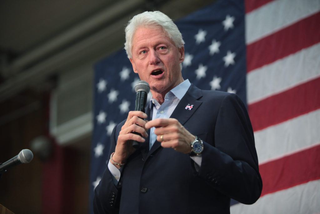 Bill Clinton speaks to a crowd. Photo courtesy of Wikipedia.