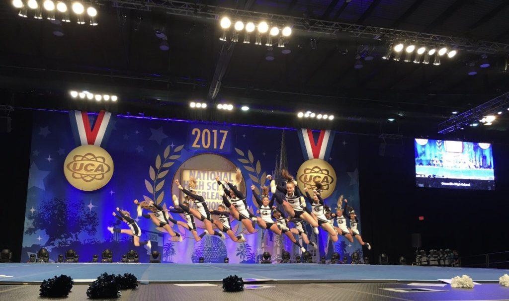 Cheerleading squad tumbles into 5th place at Disney competition