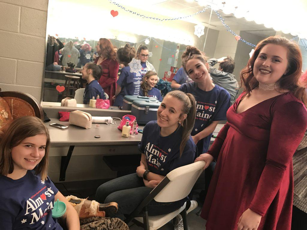 Almost, Maine cast enjoys time both back stage and on stage