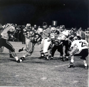 Photo taken from Mr.Wennings high school football game (number 24).