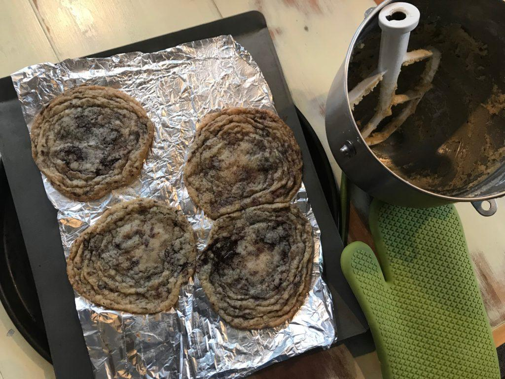 Nailled that recipe: Pan-banging is a long process that produces delicious results