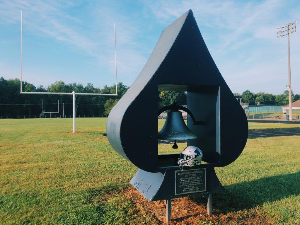 The victory bell that the players hope to ring after every home game.