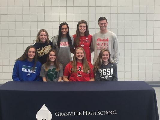 8 Granville student-athletes pledge to continue their careers on Signing Day
