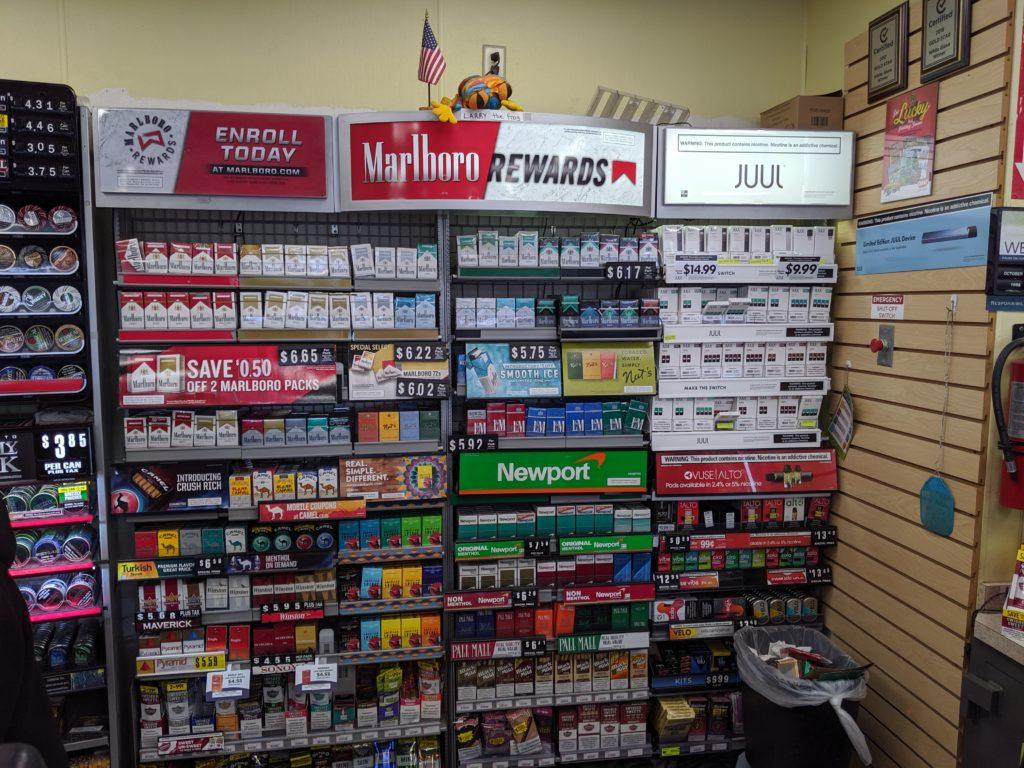 Nicotine products on display at a Certified convenience store (Gavin Robinson/BluePrints)