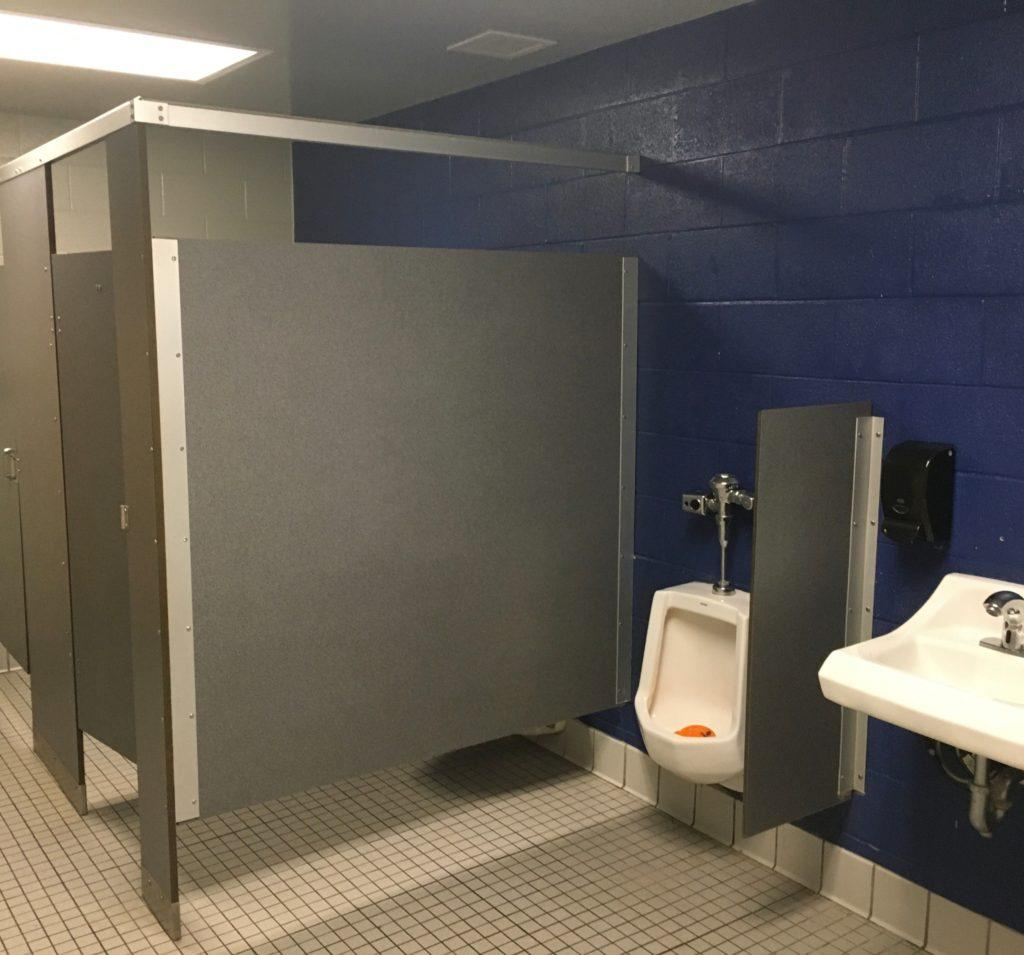 The boys band bathrooms shines as one of the best restrooms in the high school (Nick Williams/BluePrints)