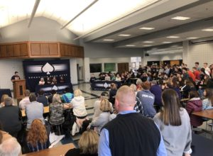 Photo of commons tansformation on signing day (Photo Source: Granville Athletics via Twitter),