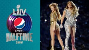 J. Lo and Shakira perform at the 54th Super Bowl. (Photo courtesy of  YouTube)
