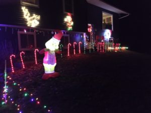 Christmas lights, up bright and early, but at night. Photo Credit: Luke Dixon